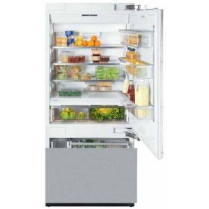 "Miele KF1803SF 30"" Energy Star Fully Integrated Bottom Freezer Refrigerator with 14.8 cu. ft. Capacity Adjustable Spill Proof Drop and Lock Shelves"