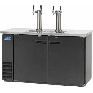 """Arctic ADD60R-2 61"""" Direct Drawer Beer Refrigerator with Two Towers  LED Lighting  Electronic Thermostat and CFC Free Refrigerant in"""