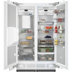 """Miele MasterCool II Series 48"""" Side By Side Column Refrigerator $ Freezer Set with K2601Vi 24"""" Right Hinge Refrigerator and F2671Vi 24"""" Left Hinge Freezer"""