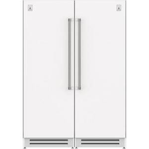 "Hestan 60"" Side-by-Side Column Refrigerator Set with KRCL30WH 30"" Left Hinge Refrigerator and KRCR30WH 30"" Right Hinge Refrigerator in Froth"