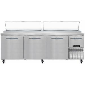 """Continental Refrigerator PA93N 93"""" Pizza Preparation Refrigerator with 32 cu. ft. Capacity  2"""" Non-CFC Polyurethane Foam Insulation and Off-Cycle Defrost in Stainless"""