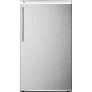 """Summit FF412ESSSHVADA 19"""" ADA Compliant  Energy Star Compact Refrigerator with 3.6 cu. ft. Capacity  Adjustable Shelves  Crisper  Automatic Defrost and"""