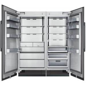 "Dacor 66"" Side-by-Side Column Refrigerator & Freezer Set with DRR30980RAP 30"" Right Hinge Refrigerator  DRZ36980LAP 36"" Left Hinge Freezer and Installation"