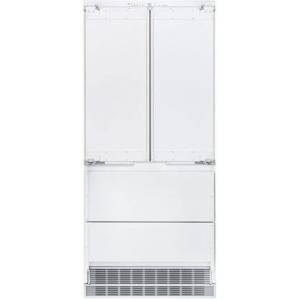 """Liebherr 36"""" French Door Refrigerator with 84"""" Door Panels and Tubular Handles in Stainless"""