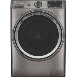 """GE GFW650SPNSN 28"""" Front Load Washer with 4.8 cu. ft. Capacity  Built-in Wifi  UltraFresh Vent System with OdorBlock and Microban Antimicrobial"""