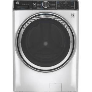 """GE GFW850SSNWW 28"""" Smart Front Load Washer with 5 cu. ft. Capacity  UltraFresh Vent System with OdorBlock  SmartDispense Technology and Built-in WiFi in"""