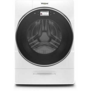 "Whirlpool WFW9620HW 27"" Smart Front Load Washer with 5 cu. ft. Capacity  Load and Go XL Plus Dispenser  37 Wash Cycles  and WiFi Connect  in"