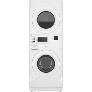 """Whirlpool CGT9100GQ 27"""" Commercial Stacked Gas Dryer on Washer Energy Star with 3.1 cu. ft. ADA Compliant Washer Capacity  6.7 cu. ft. Dryer Capacity"""