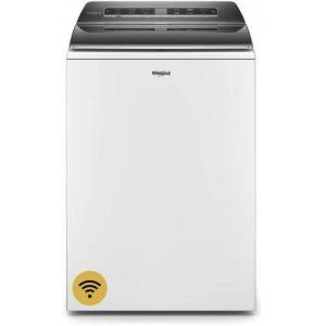 """Whirlpool WTW8120HW 28"""" White Smart Capable Top Load Washer with 5.3 cu. ft. Capacity  Load & Go Dispenser  Pretreat Station Plus and Intuitive"""