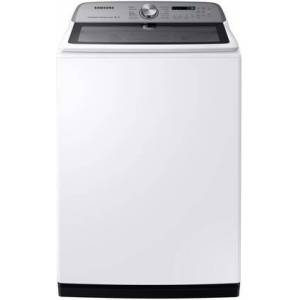 """Samsung WA54R7600AW 28"""" Top Load Washer with 5.4 cu. ft. Capacity  Active Water Jet  Steam Sanitize and Super Speed in"""