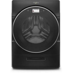 """Whirlpool WFW9620HBK 27"""" Smart Front Load Washer with 5 cu. ft. Capacity  Load and Go XL Plus Dispenser  37 Wash Cycles  and WiFi Connect  in"""