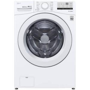 """LG WM3400CW 27"""" Front Load Washer with 4.5 cu. ft. Capacity  Energy Star  Coldwash Technology  SenseClean System and NFC Tag On in"""