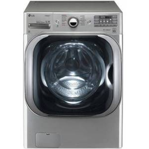 """LG WM8100HVA 29"""" Energy Star Certified Front Load Washer with 5.2 cu. ft. Capacity  14 Wash Cycles  1300 RPM  Steam Cycle  TurboWash  ColdWash"""