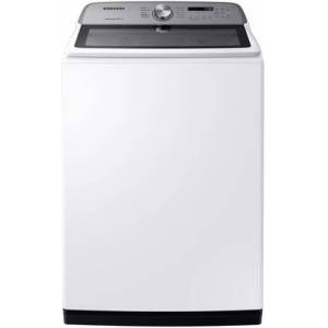 "Samsung WA54R7200AW 28"" Top Load Washer with 5.4 cu. ft. Capacity  Active Water Jet  Deep Fill and Self Clean in"