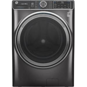 """GE GFW850SPNDG 28"""" Smart Front Load Washer with 5 cu. ft. Capacity  UltraFresh Vent System with OdorBlock  SmartDispense Technology and Built-in WiFi in"""