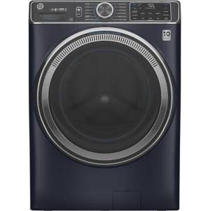"""GE GFW850SPNRS 28"""" Smart Front Load Washer with 5 cu. ft. Capacity  UltraFresh Vent System with OdorBlock  SmartDispense Technology and Built-in WiFi in"""