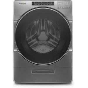 """Whirlpool WFW862CHC 27"""" Closet-Depth Front Load Washer with 4.3 cu. ft. Capacity  Load and Go XL Dispenser  Sanitize Cycle  Steam Clean Option  and 37 Wash"""