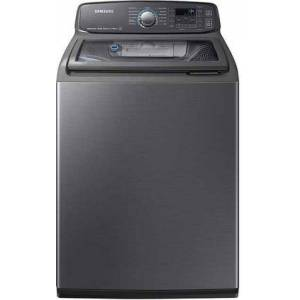 Samsung WA52M7750AV Top Load Washer with 5.2 cu. ft. Capacity  ActiveWash  Steam Wash  in Black Stainless