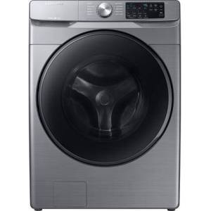 """Samsung WF45R6100AP 27"""" Front Load Washer with 4.5 cu. ft. Capacity  1200 RPM  Steam Wash  Self Clean+ and Smart Care in"""