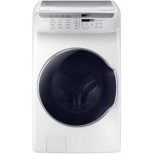 """Samsung WV55M9600AW 27"""" FlexWash Washer With 5.5 cu. ft. Total Capacity  FlexWash  Steam Wash  1300 RPM  Smart Care  Vibration Reduction Technology  in"""