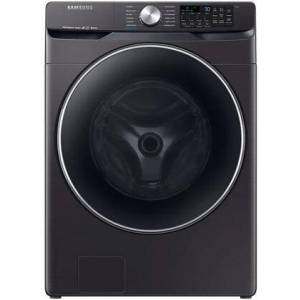 """Samsung WF45R6300AV 27"""" Front Load Washer with 4.5 cu. ft. Capacity  Super Speed  Wi-Fi Connectivity  Steam Clean and VRT Plus Technology in Black Stainless"""