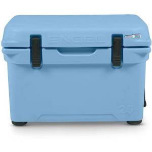 """Engel ENG25-B 21"""" Roto-Molded Cooler with 21.25 Quarts Capacity  Durable Seamless Rotationally-Molded Construction  and Dry Ice Compatible  in Arctic"""