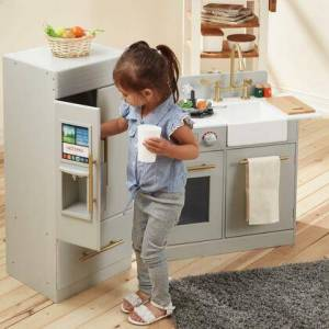 Teamson Kids TD12302A Urban Adventure Play Kitchen with Ice Maker Function -