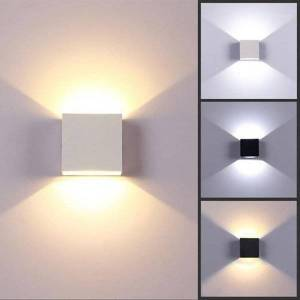 DHgate 6w lampada led aluminium wall light rail project square led wall lamp bedside lights bedroom decor arts1