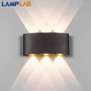 DHgate modern led wall lamp indoor stair light fixture bedside loft living room up down home hallway lampada 2w 4w 6w wall sconces1