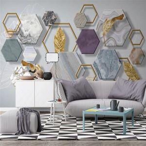 DHgate custom wallpaper 3d mural nordic minimalist stone geometry gold leaf living room tv background wall painting mural 3d wallpaper