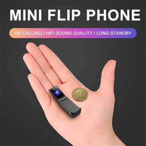 DHgate new smallest flip cellphone original ulcool f1 intelligent anti-lost gsm bluetooth dial mini backup pocket portable mobile phone for kids