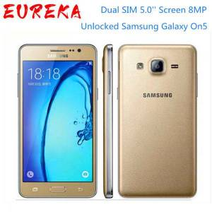DHgate unlocked samsung galaxy on5 g5500 4g lte android mobile phone dual sim 5.0'' screen 8mp quad core good selling