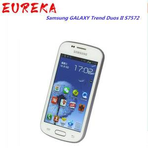DHgate original refurbished samsung galaxy trend duos ii s7572 3g wcdma cell phones 4g rom 4.0 inch unlocked wi-fi 802.11 mobile phone