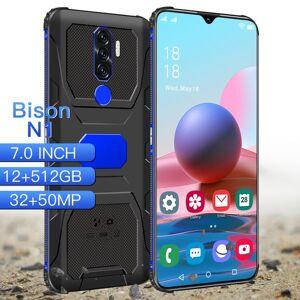 "DHgate bison n1 smartphone 7.0"" cellphones android phones fingerprint face unlock dual camera 4g 5g smart mobile cell phone global version"