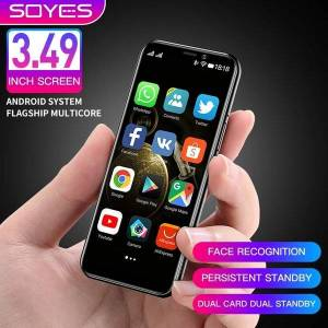 DHgate original soyes s10-h cell phones android 9.0 4g lte smartphone 3.5'' super mini telefone 3gb 64gb high-end unlocked face id cellph