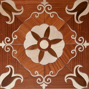 DHgate red color balsamo teak wood floor marquetry medallion inlaid flooring home decor interior wallpaper panels tile art cladding carpet wooden