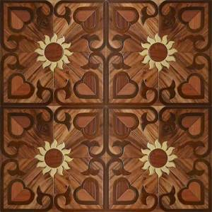 DHgate red balsamo floor flower pattern wood flooring burma teak art and craft inlaid marquetry furniture wall decor wallpaper hardwood tile timber