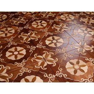 DHgate red balsamo wood flooring marquetry sandalwood parquet floor tile square design art parquetry medallion inlay burma teak engineered furnitur