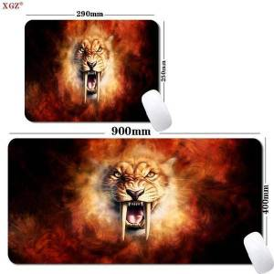DHgate mouse pads & wrist rests xgz tiger animal gaming pad csgo accessories table mat 400x900mm 300x800mm selling big boy player non-slip