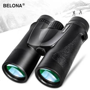 DHgate 10x42 binoculars hunting and tourism bak4 prism fmc coating hd professional powerful military telescope visible at low light