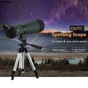 DHgate telescopes 25 x 70 spotting scope monocular kit telescope hd fmc zoom living water-resistant water-resistance with tripod