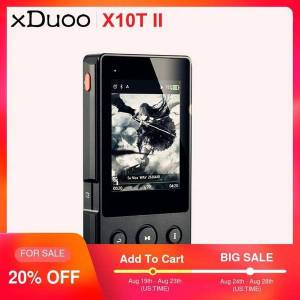 DHgate xduoo x10t ii professional digital turntable music bluetooth mp3 player dsd256 pcm 384hkz/32bit support optocal/aex/usb output