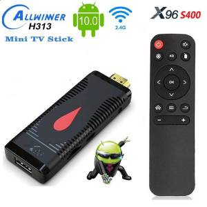 DHgate x96 s400 tv stick 2gb+16gb android 10.0 allwinner h313 quad core 4k 60fps 2.4g wifi pk x96 t95 android tv box