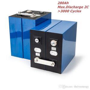 DHgate 4pcs/lot 2c lishen 272ah 280ah 3.2v lifepo4 battery cell diy 12v 24v 36v 48v power backup solar system