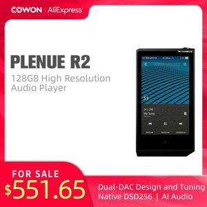 DHgate cowon pleneul r2 128gb high resolution audio player aptx jeteffect bluetooth dual dac dsd256 snr 136db ai audio pr2