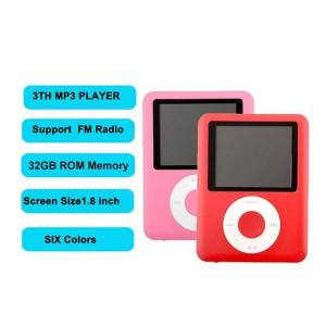 DHgate 3th mp3 players gen 1.8 inch fm raido voice recorder music built in 32gb memory mini light player 6 colors for choose