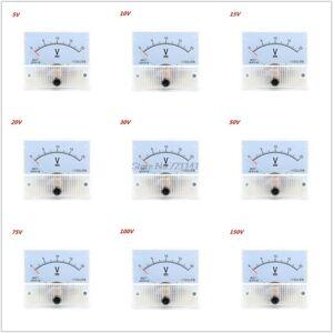 DHgate 85c1 dc analog panel volt voltage meter voltmeter gauge mechanical voltage meter 5/10/15/20/30/50/75/100/150v dropship
