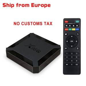 DHgate (ship from europe no customs tax) x96q tv box android 10.0 allwinner h313 2gb 16gb smart tv box quad core 2.4g wifi