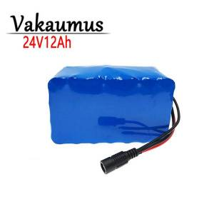 DHgate 24v 12ah lithium battery 7s 5p 18650 pack with 15 a bms for electric bicycle/scooter/wheelchair etc.