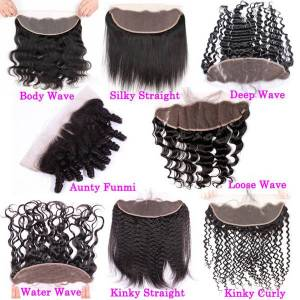 DHgate pre plucked kinky curly swiss lace frontal closure ear to ear 13x4 raw virgin indian curly human hair full frontals closure natural hairline